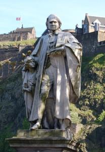 Statue of Dr Thomas Guthrie in Princes St, Edinburgh